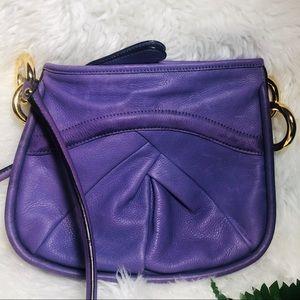 B makowsky purple soft leather purse